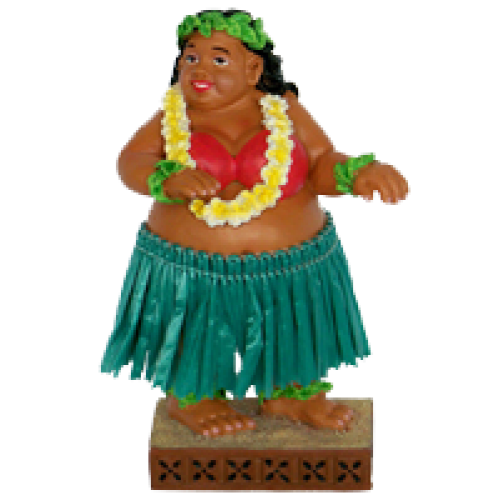 Sweet Wahine Dashboard hula poppetje