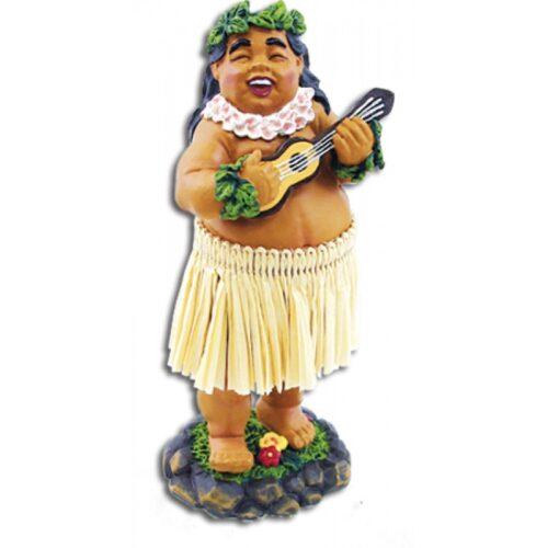 Braddah met Ukulele Dashboard hula Dolls