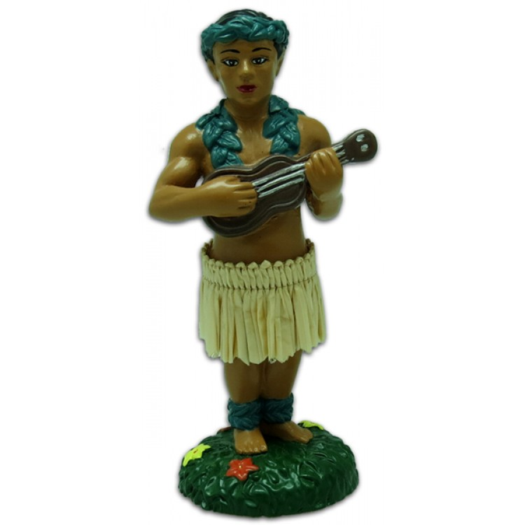 Dashboard Doll - Mini Hula Boy met Ukulele