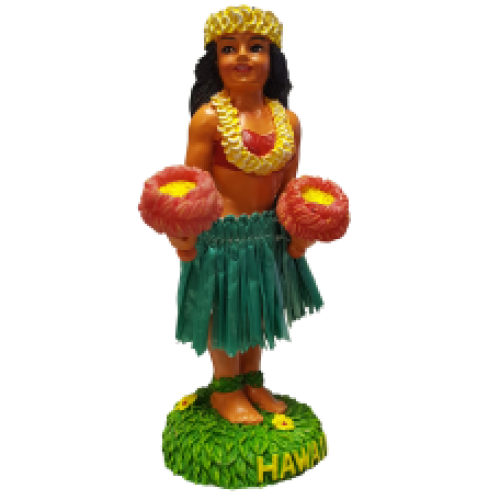 Hula Girl Kinohe Dashboard Doll