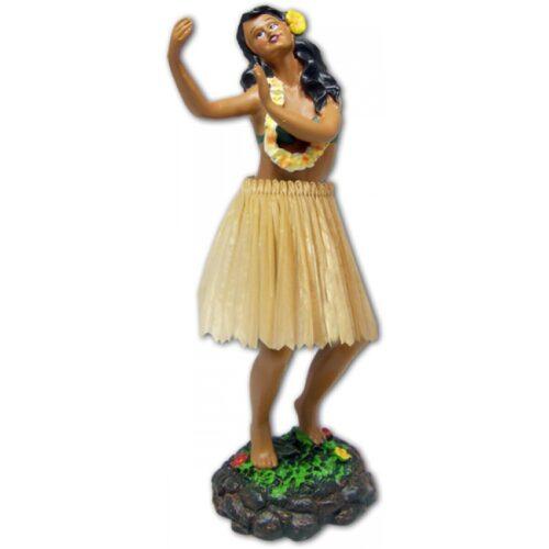 Leilani Dashboard Doll - Meisje in dansende houding met natuurlijke rok
