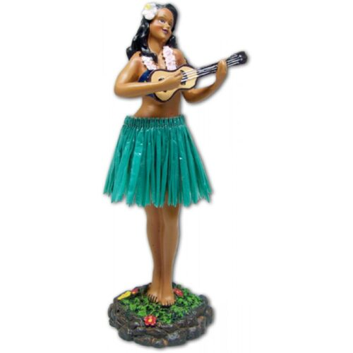 Leilani Dashboard Doll girl met Ukulele en groene rok