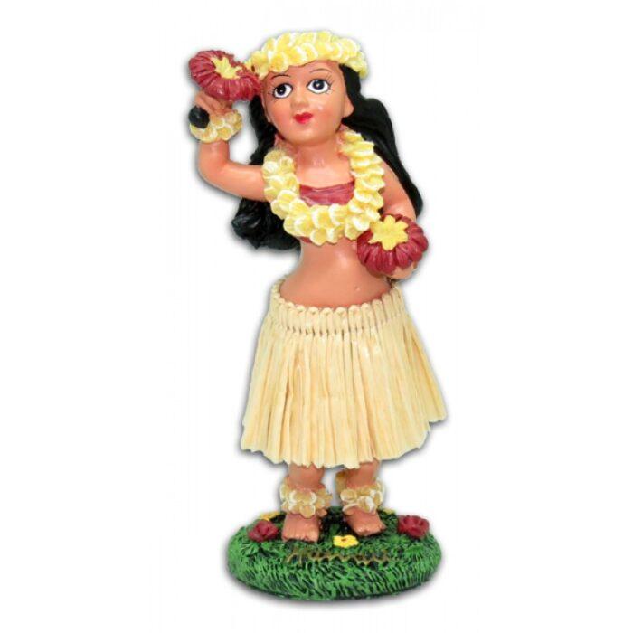 Meisje met Uliuli Dashboard hula Doll