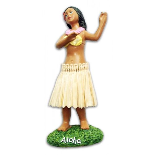 Miniature Dashboard Hula Doll - Hula Girl Poseert