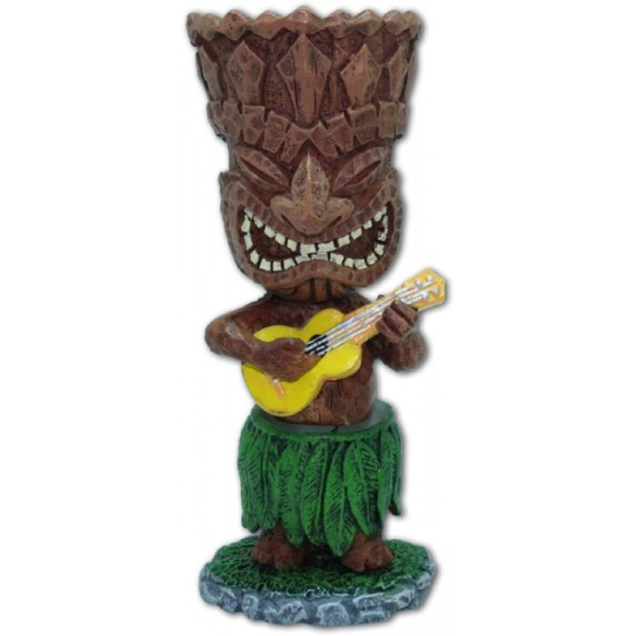 Miniature Dashboard Hula Doll - Tiki met Ukulele - perfect wind