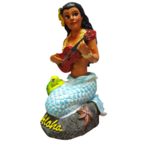 Napua Mermaid Dashboard Hula Doll