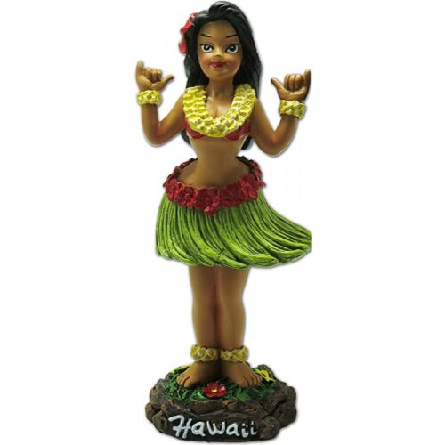 Shaka Girl - Dashboard hula Doll - Hang loose