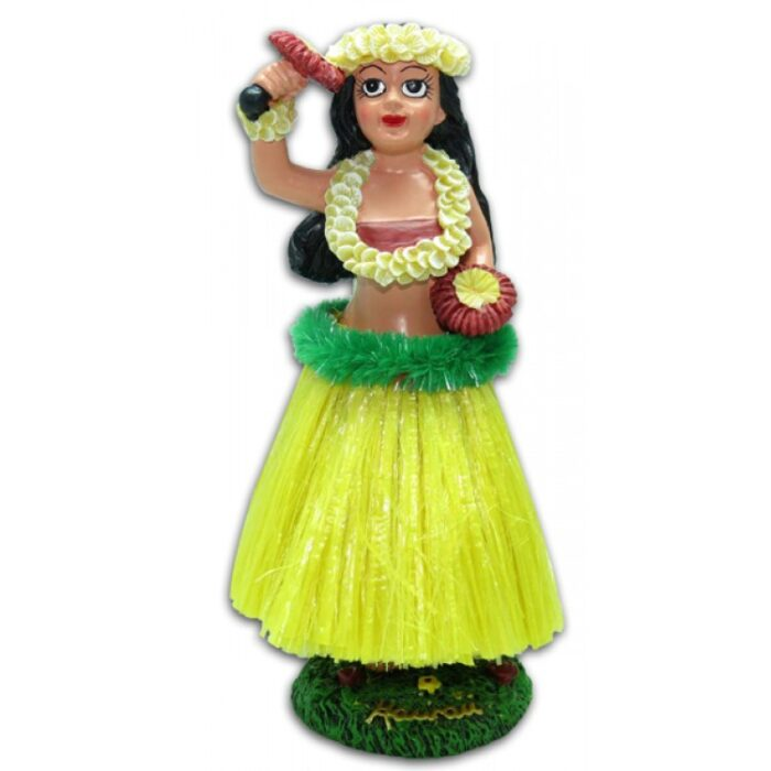 Vintage Dashboard Hula Doll - Hula Girl met Uliuli