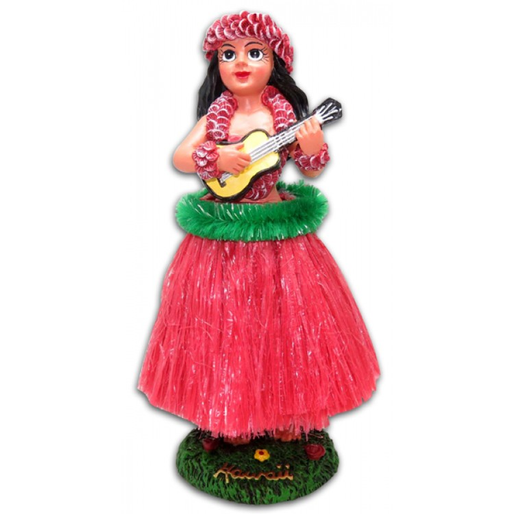 Vintage Dashboard Hula Doll met Ukulele - perfect wind
