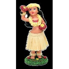 Girl with Uliuli Dashboard hula Doll