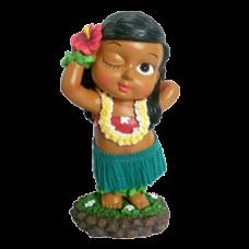 Posing Keiki Dashboard hula Doll
