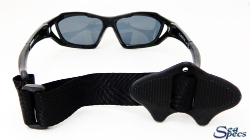 Stealth Black Seaspecs zonnebril watersport achterkant
