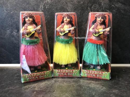 Vintage Dashboard Hula Doll met Ukulele