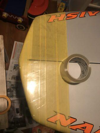 verpakingstape erop